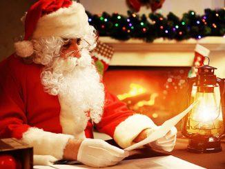 Der Weihnachtsmann bei der Arbeit