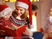Weihnachtsfrau mit Kind