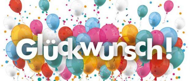 Glückwunsch zum Geburtstag